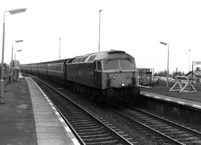 Class 47/7 at Falkirk High, 1983