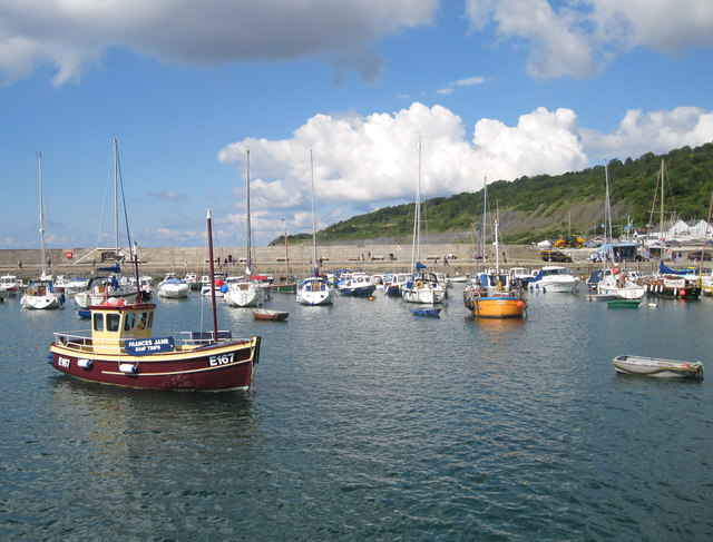 Boats in The Cobb, Lyme Regis