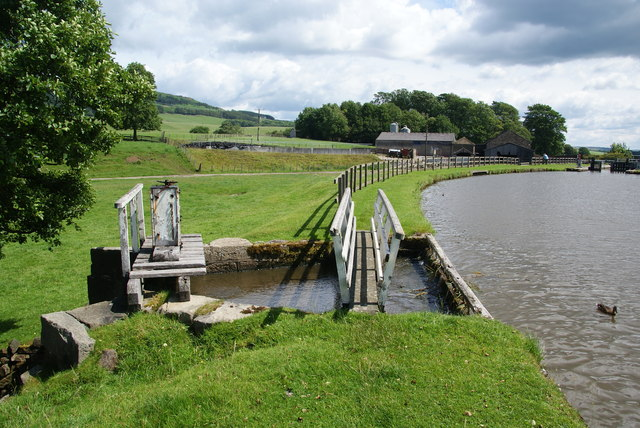 Sluice on the Leeds and Liverpool Canal
