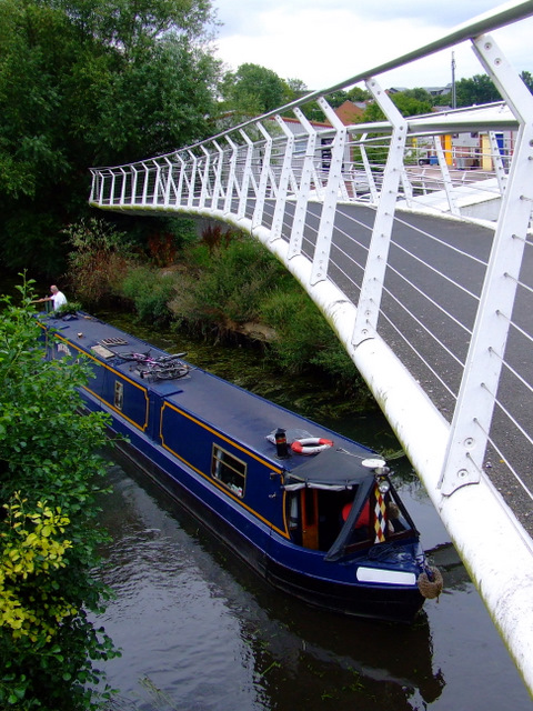 Narrowboat on the River Stort
