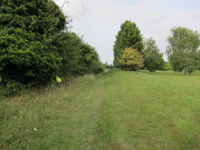 Footpath past Kingsway golf course