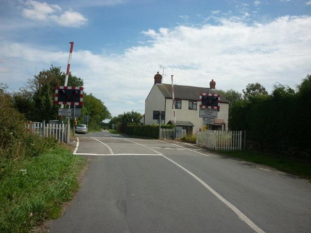 The level crossings on Carr Lane, Watton