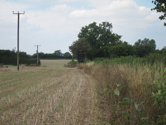 Stubble field by Bowl Road