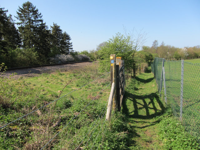 Footpath by the railway