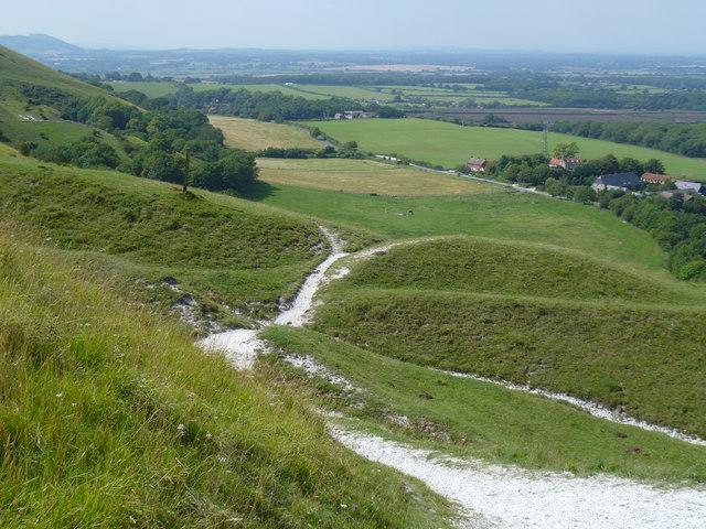 Tracks on Fulking Escarpment