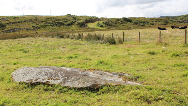 Fallen standing stone, Dunadd