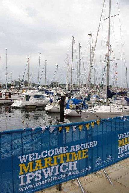 Ipswich Marina on Festival Day