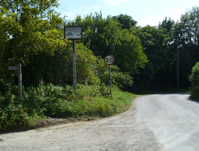 Fulking village sign on the road in from the north