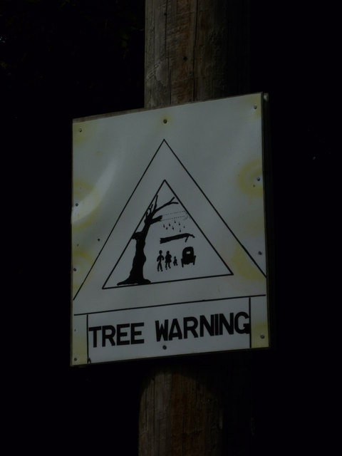 Novel warning sign on Clappers Lane