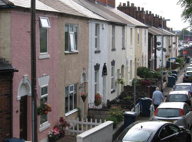 Stafford - Railway Street from Castle Street