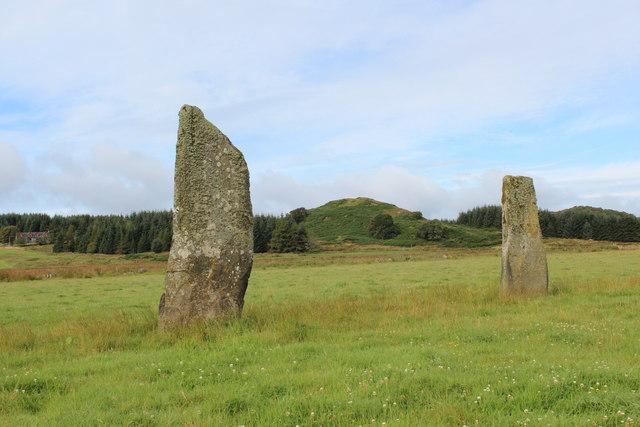 Standing Stones.  Dunamuck (central)