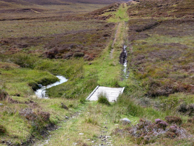Moorland track and bridge