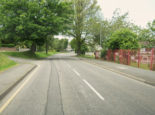 Leswalt High Road at the junction with Rowan's Hill