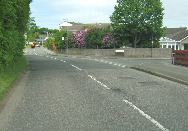 Leswalt High Road at the junction with Millbank Road
