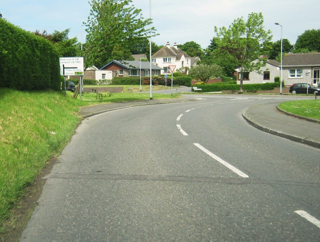 Leswalt High Road approaching the junction the A718