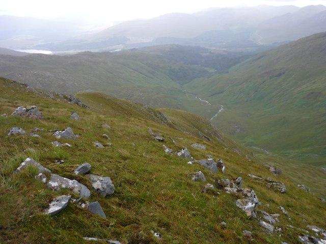South ridge of Streap Comhlaidh