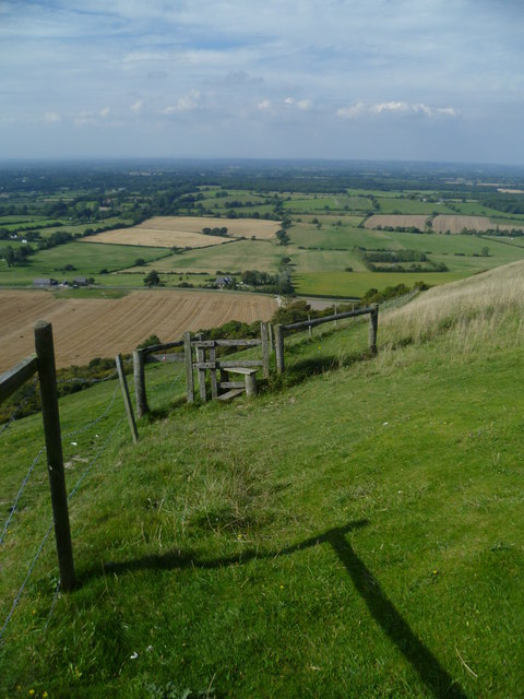 View north from the South Downs near Fulking