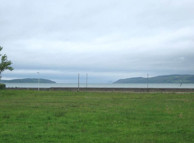 Agnew Park, looking up Loch Ryan