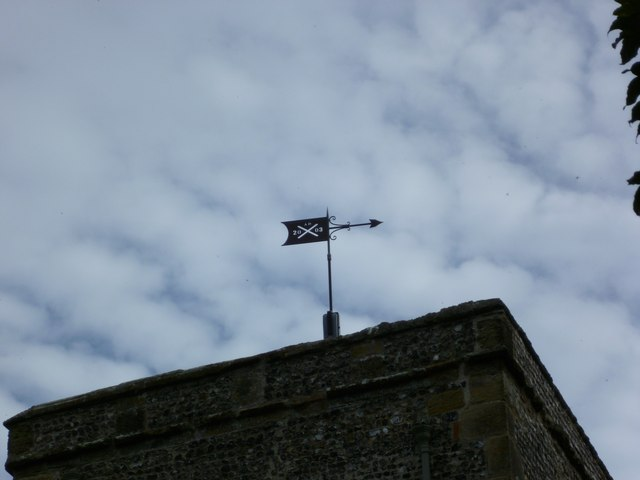 Weathervane on Edburton church tower
