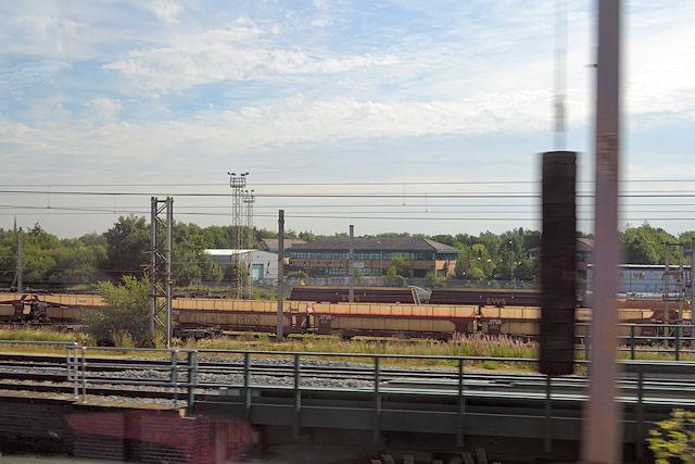 Arpley sidings from West Coast main line