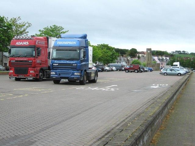 Car park beside the marina
