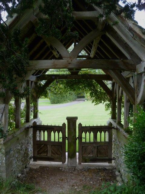 Lych gate at Edburton church