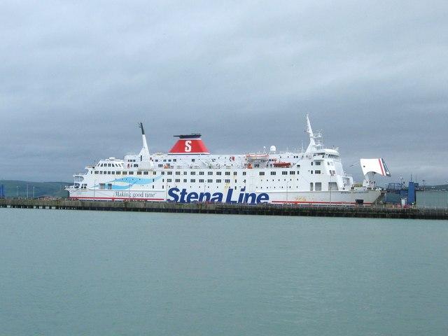 """""""Stena Navigator"""" docked at the teminal"""