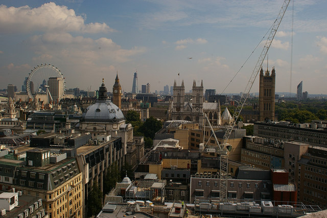 View of Westminster Abbey and environs