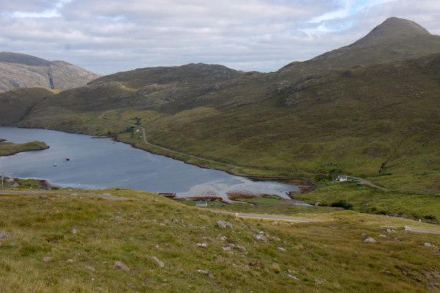 The head of Loch Mharaig