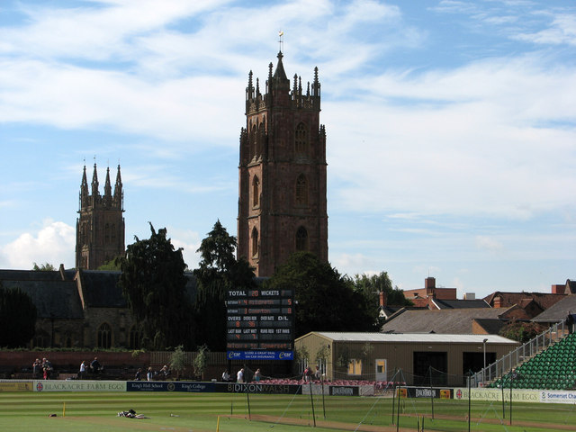 Taunton: two towers and the overnight score
