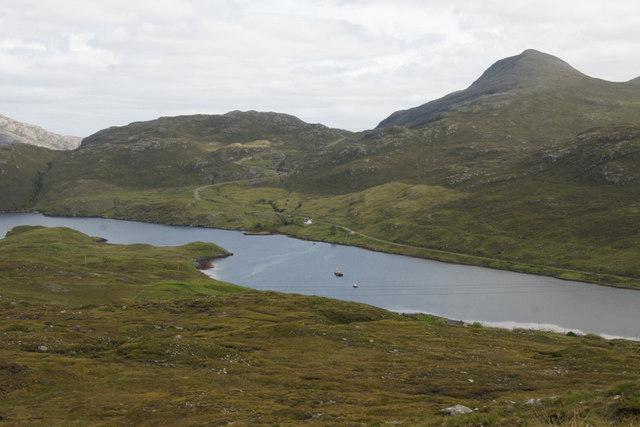 Loch Mharaig from the A859