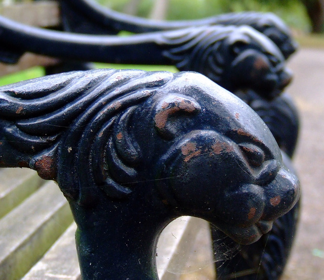 Bench in Bishops Stortford cemetery