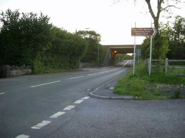 Road bridge , near Gorslas