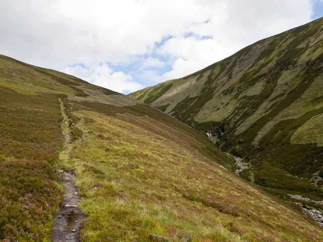 Path on Beinn Losgarnaich
