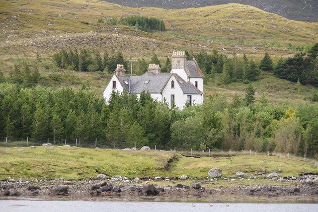 Ardvourlie Castle from Scaladale