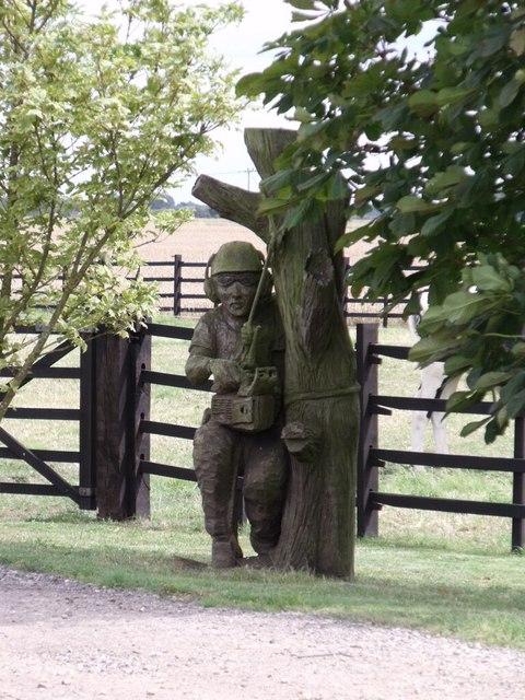 Wooden Carving on Twelve Foot Bank