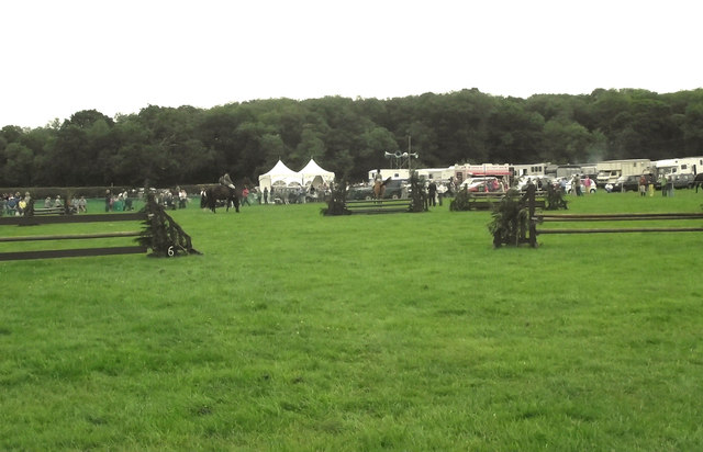 The cross-country jumping arena