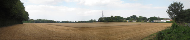 Harvested wheat field by Bowl Road