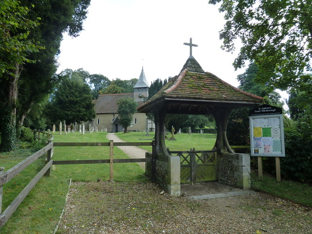 St Andrew, South Warnborough: lych gate