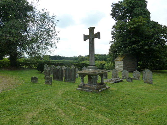 St Andrew, South Warnborough: cross in the churchyard