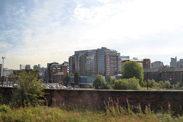 Office buildings near Irwell street bridge