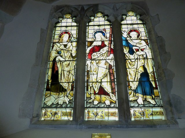 St Andrew, South Warnborough: west window