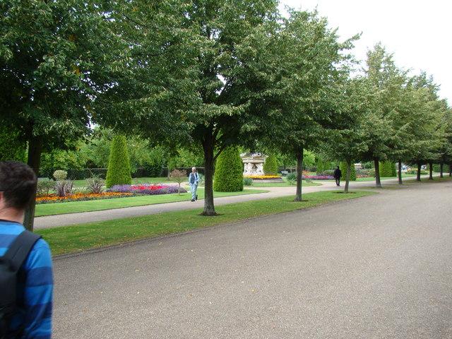 Flower gardens in Regent's Park