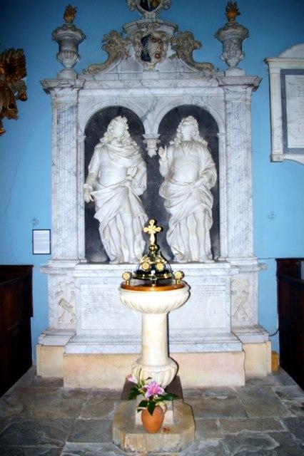 Parker monument in All Saints' Church, Honington