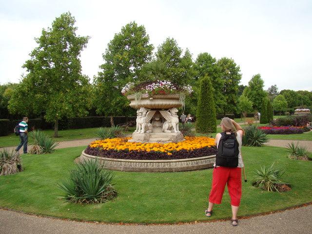 Trendy flowerpot in Regent's Park
