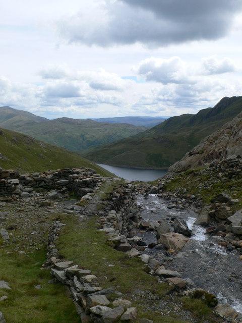 The river Glaslyn on its way to Llyn Llydaw
