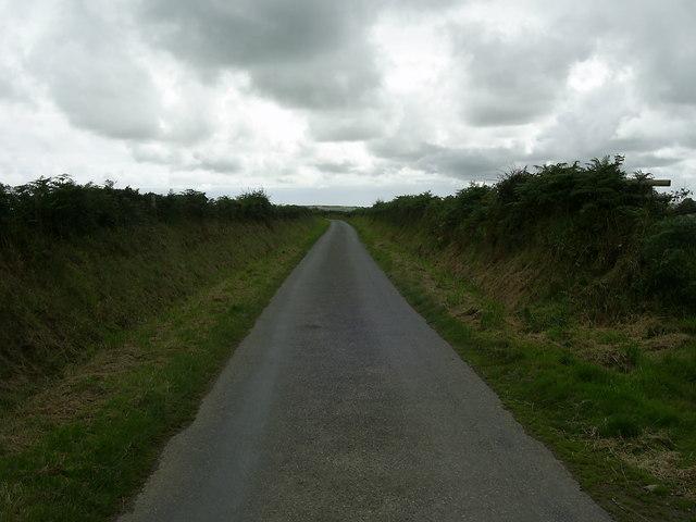 Country road near Trefelgarn