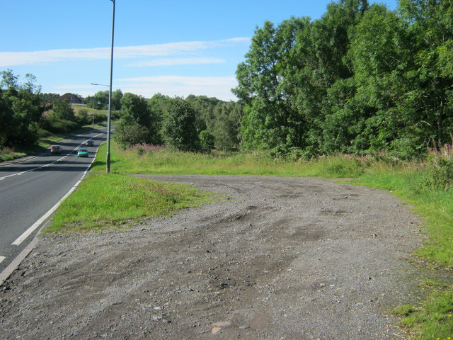 Unmade layby on Park Head Bank at New Coundon