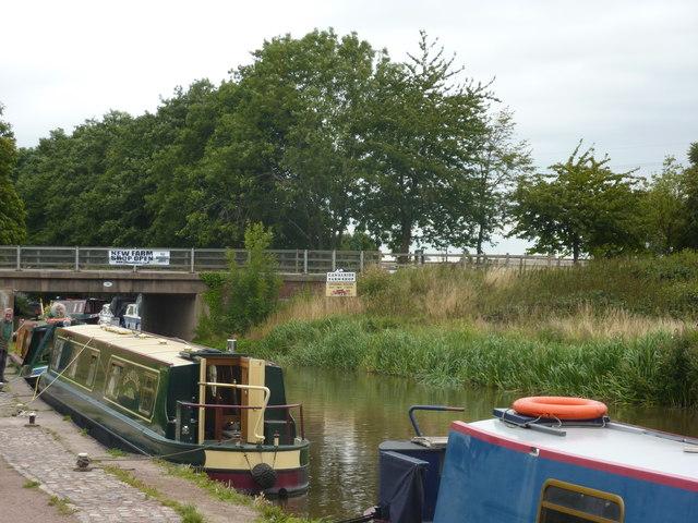 Moorings at Mill Lane Bridge, Great Haywood