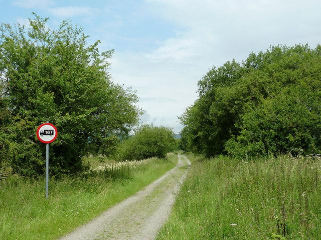 Dismantled railway course near Tregaron, Ceredigion